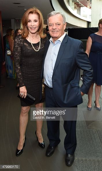Stefanie Powers and Tony Blackburn attend the Arqiva Commercial Radio Awards at The Roundhouse on July 8 2015 in London England