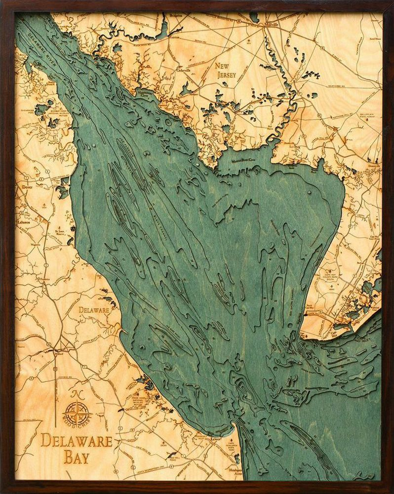 Bathymetric Map of Delaware Bay Extremely accurate
