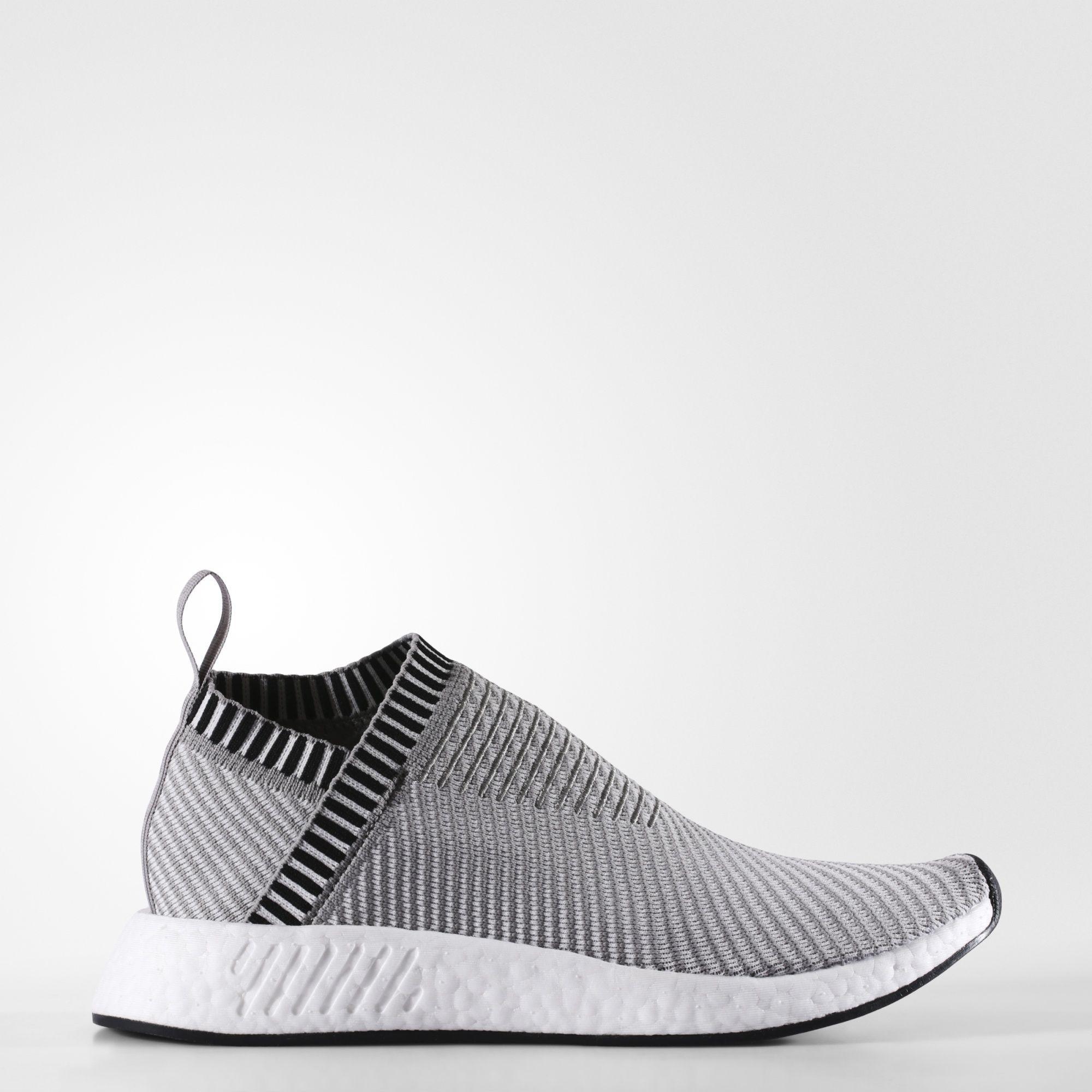 99941c4fcb3a4 Adidas NMD CS2 Primeknit Shoes Dark Grey Heather Solid Grey Footwear White  Shock Pink BA7187