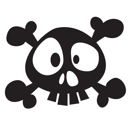 stickers komoa design stickers decors de pirate tte de mort