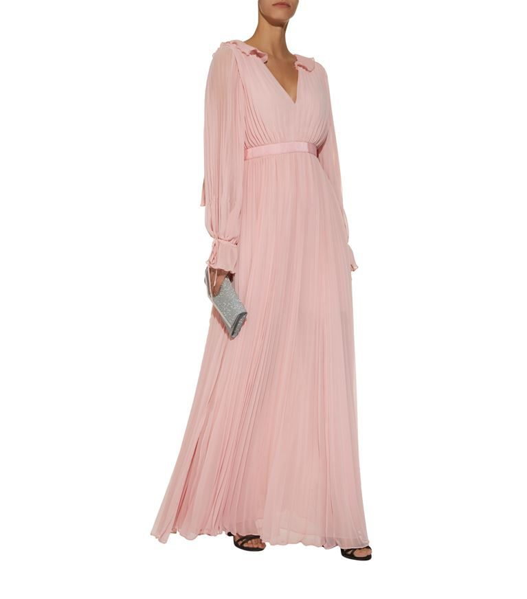 ba6891fc566e Chiffon Pleated Maxi Dress | Self-Portrait | Dresses, Self portrait ...