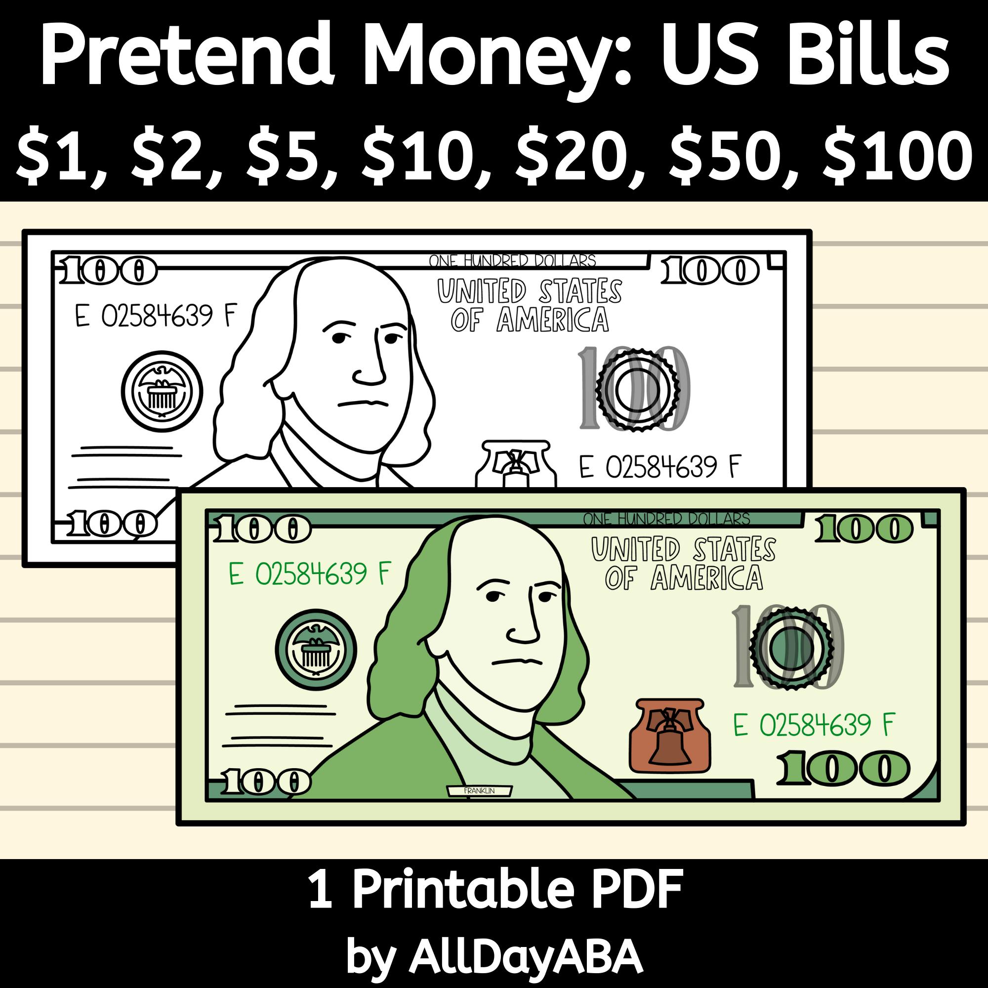 Pretend Play Money