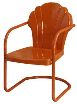 Charmant Buy Retro Metal Lawn Furniture Here   Parklane Metal Chair   For The  Patio,yard,pool Or Porch!