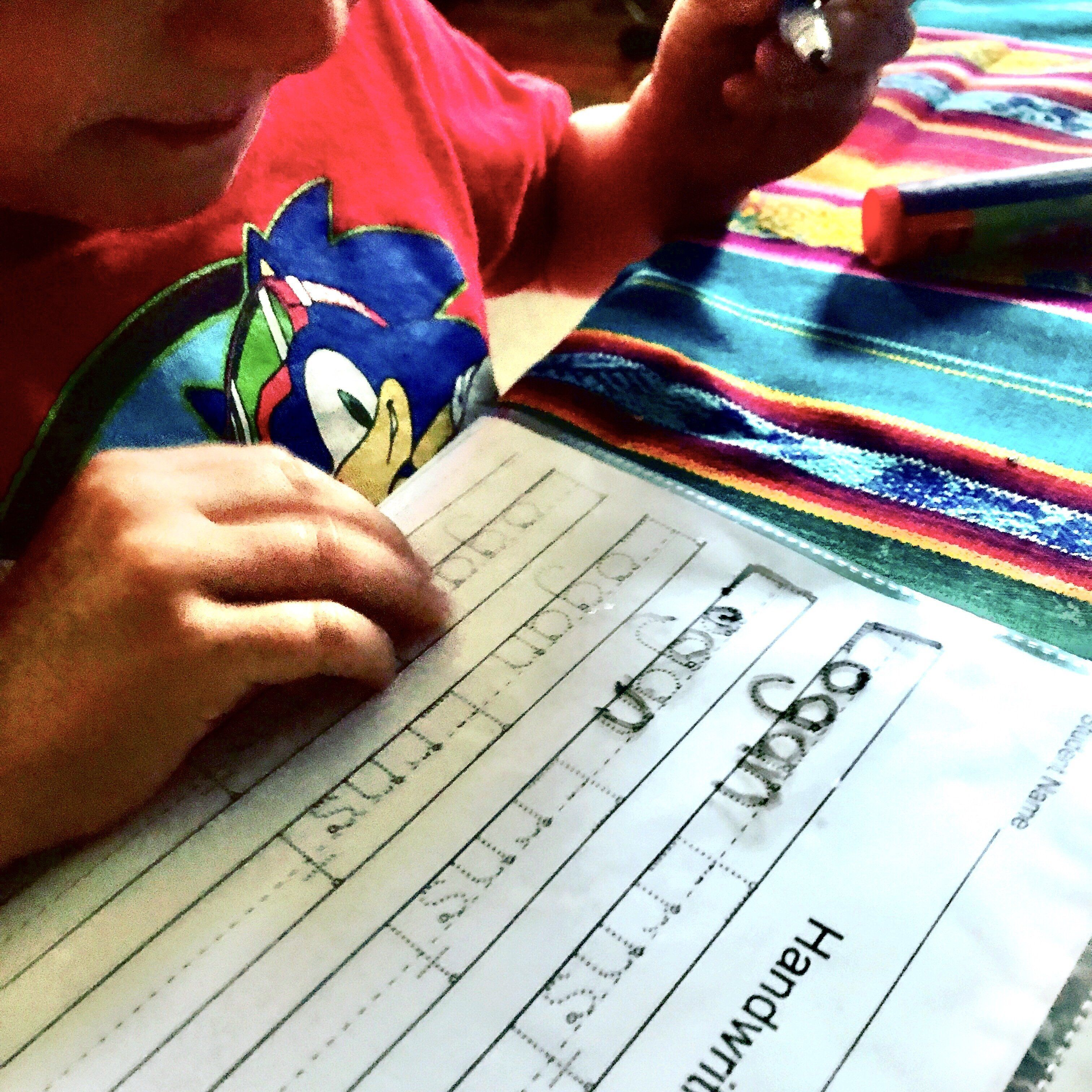 Free Kindergarten Name Writing Practice