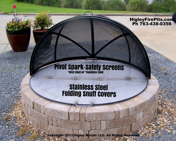Higley Custom Dome Fire Pit Screen Made From Stainless