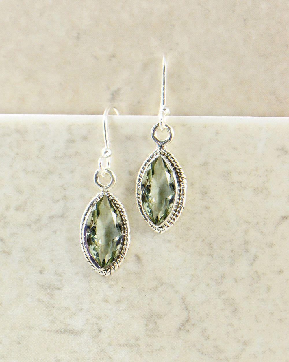 Joy Amethyst Marquise Earrings in Sterling Silver
