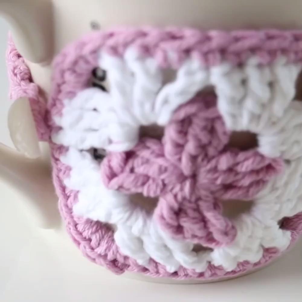 Photo of Crochet Granny Square Mug Cozy