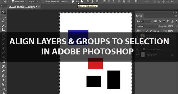 Align layer photoshop