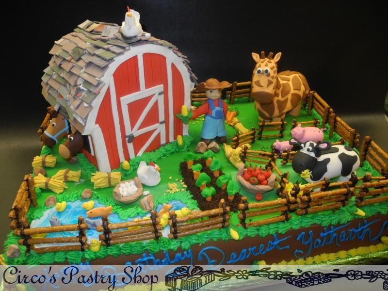 Pin By Ayolany Perez On Tortas Pinterest Farm Birthday Cakes