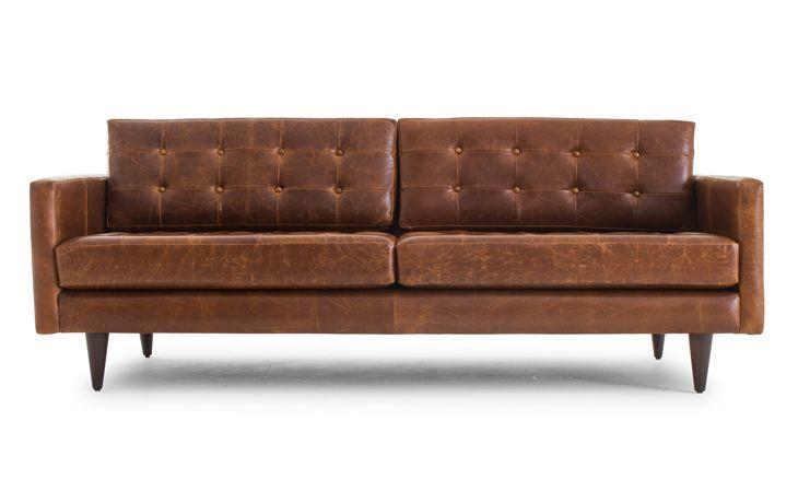 Eliot Leather Sofa Joybird Mid Century Modern