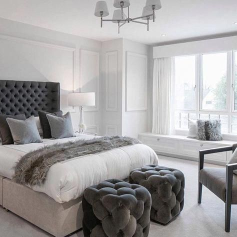 The Chic Technique:  25 ways to make your master bedroom feel like a boutique hotel #greybedroom