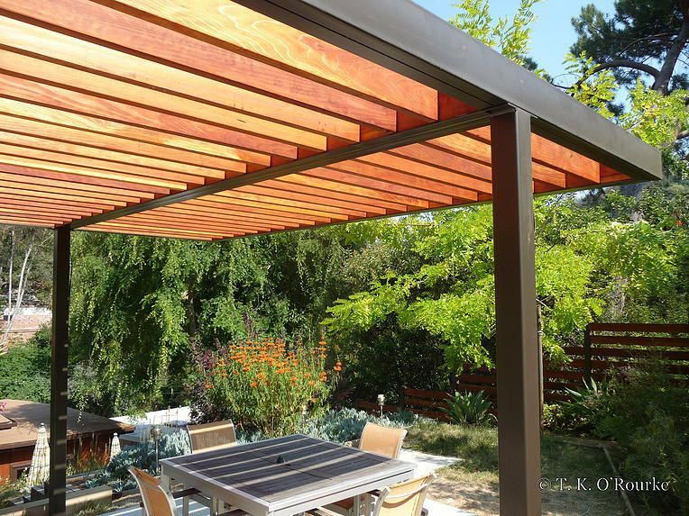 mid century modern entrance arbor - Google Search #pergolasarchitecture  Pergola Plans, Pergola Kits, - Mid Century Modern Entrance Arbor - Google Search