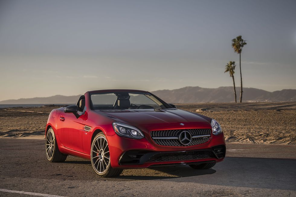 2020 Mercedes Amg Slc43 Review Pricing And Specs Mercedes Benz Slk Mercedes Benz Convertible Mercedes Benz