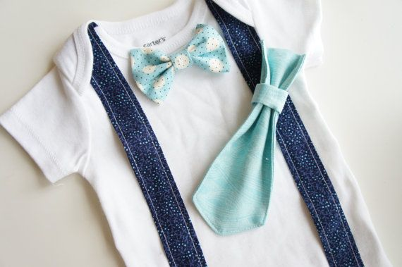 Changeable  Baby Tie and Bow Tie Onesie  T with by LouEmbres, $20.00