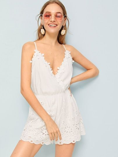 3302b3fd4252 Laser Cut Cami Romper in 2019 | Various BOTTOMS|Skirts|Shorts|Pants ...