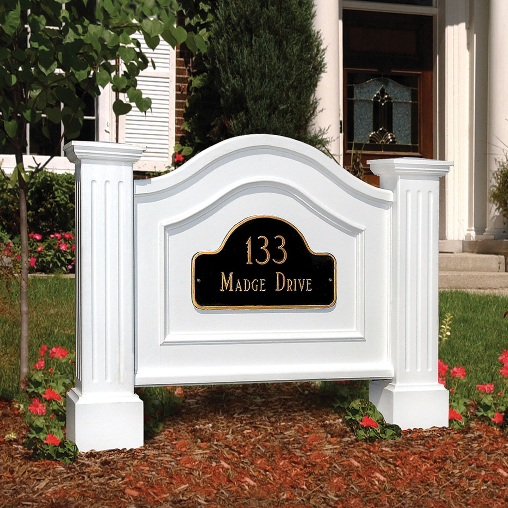 Legacy 2 Line Lawn Address Sign House Address Sign House