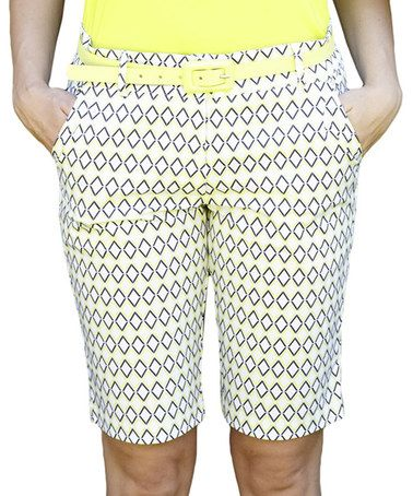 Another great find on #zulily! Summer Diamond Ashley Bermuda Shorts by GGblue #zulilyfinds
