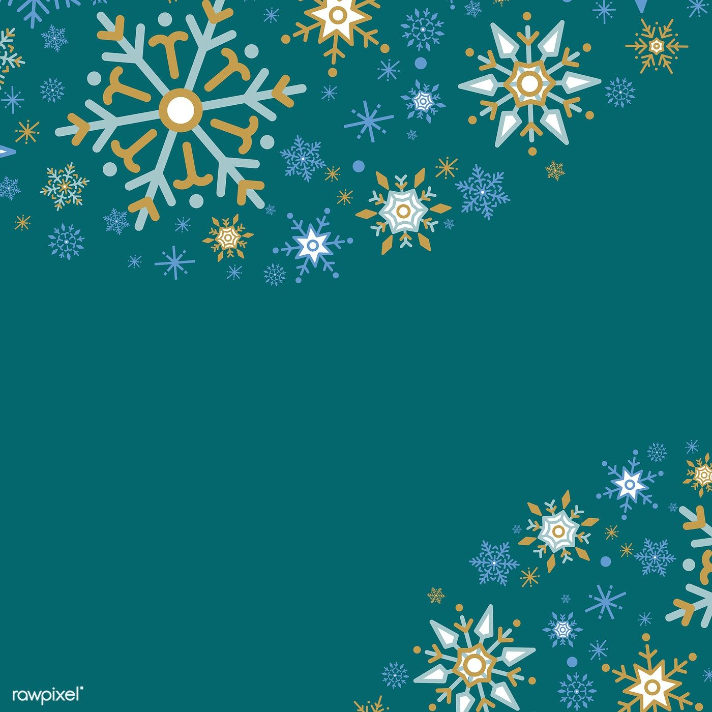 Green Christmas Winter Holiday Background With Snowflake Vector Free Image By Rawpixel Com Holiday Background Winter Wallpaper Green Christmas