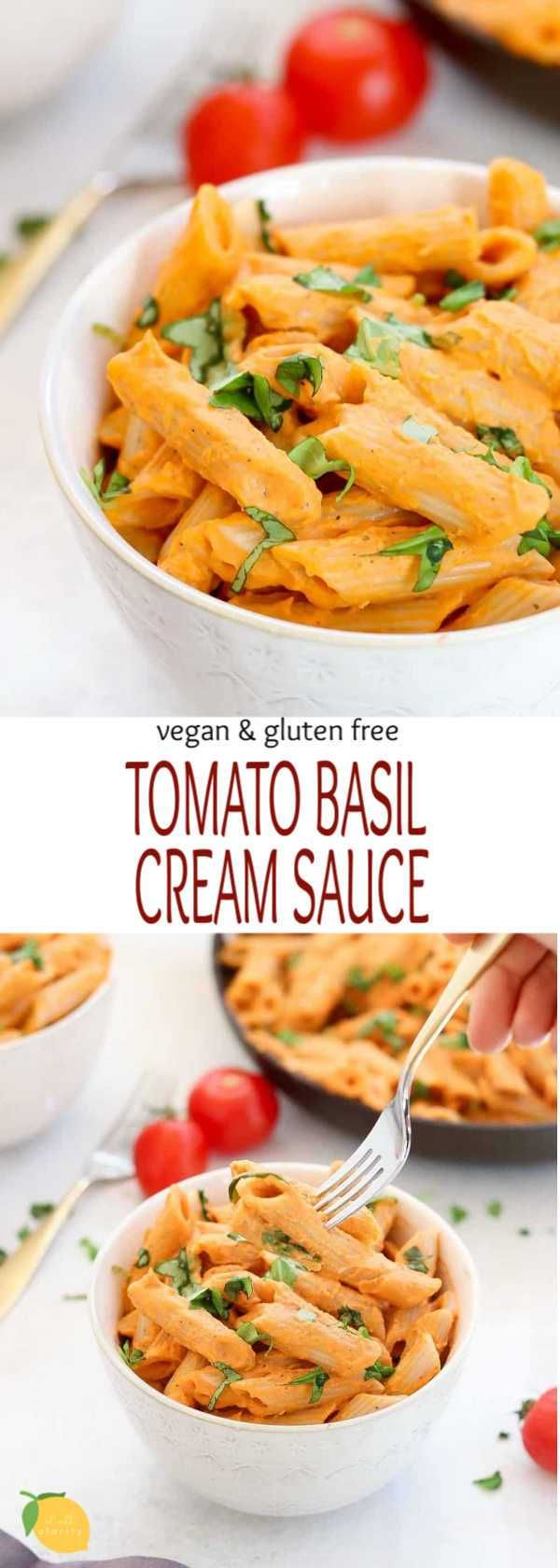 Vegan Tomato Basil Cream Sauce and Pasta | Eat With Clarity