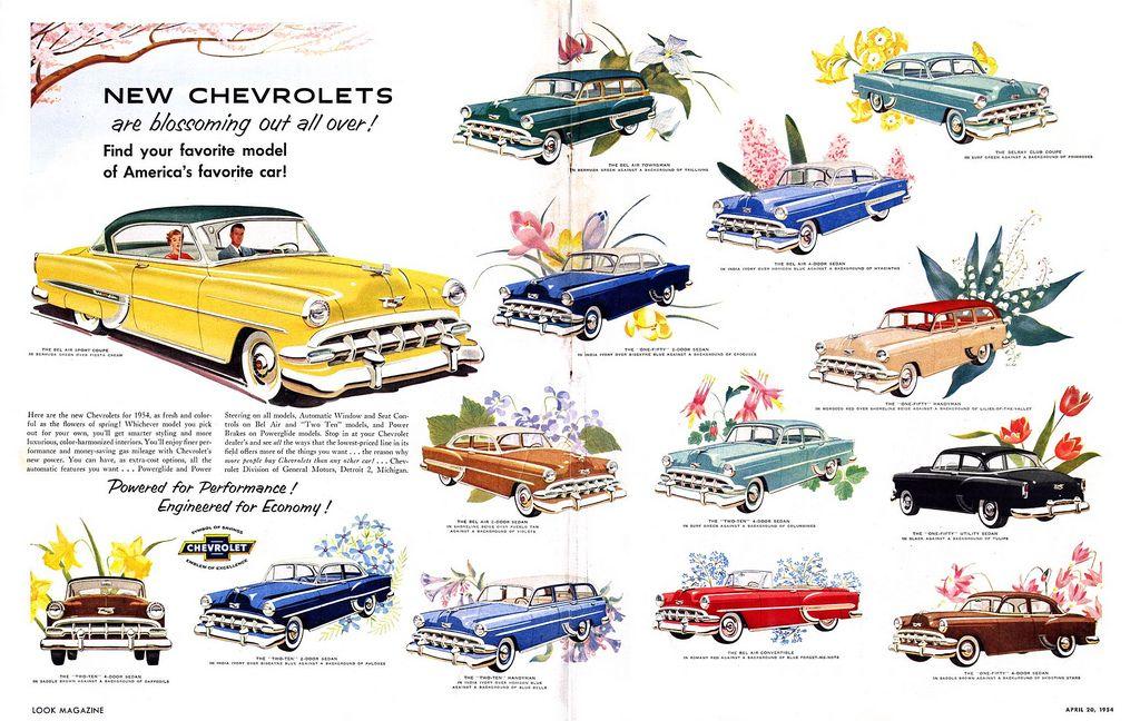 Unknown675.jpg Chevrolet, 1954 chevy bel air, Vintage ads