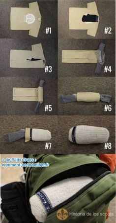 comment ranger ses affaires dans 1 paire de chaussettes organizadores de ropa life hacks. Black Bedroom Furniture Sets. Home Design Ideas