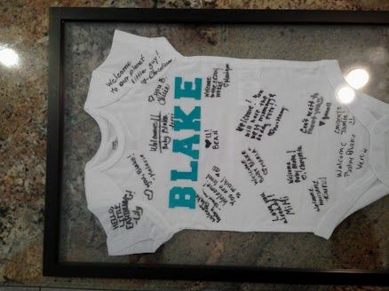 Baby Shower Guest Book Idea What If Onesie Was A Little Baby