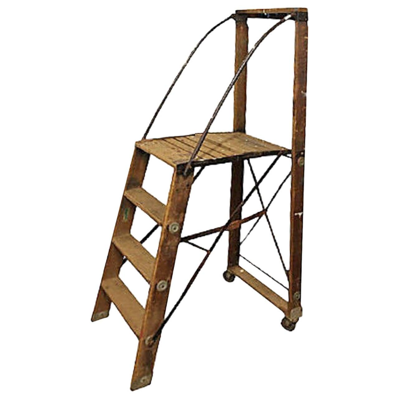 Vintage Old Antique Ladder Rustic Step Wood Folding Ladders Shelve House Decor Ladder Decor Idea Blanket Ladder Decor Rustic Blanket Ladder Wallpaper Decor
