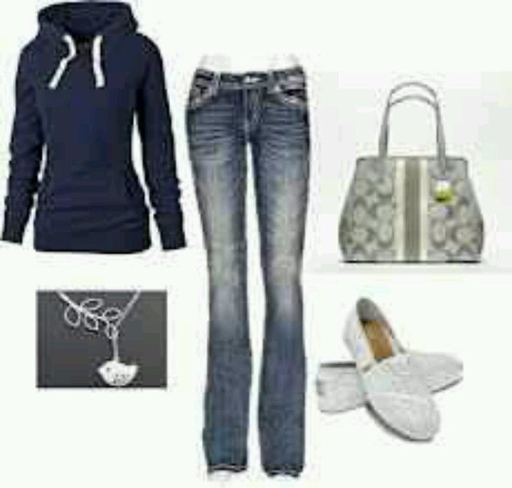 Simple kind of school outfit.