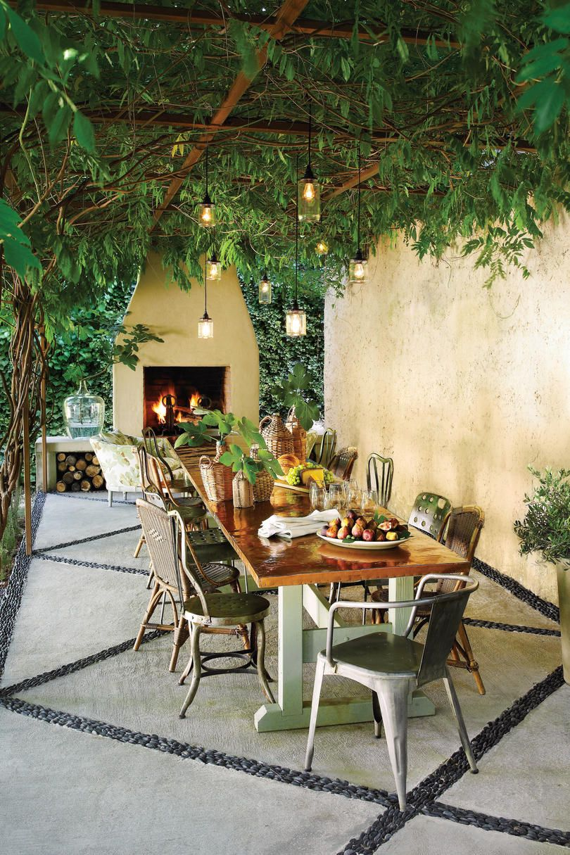 Inviting Patio Makeover   When SL Style Director Heather Chadduck Lost A  100 Year Old Hickory Tree In Her Backyard, She Knew It Was Time For A  Makeover.