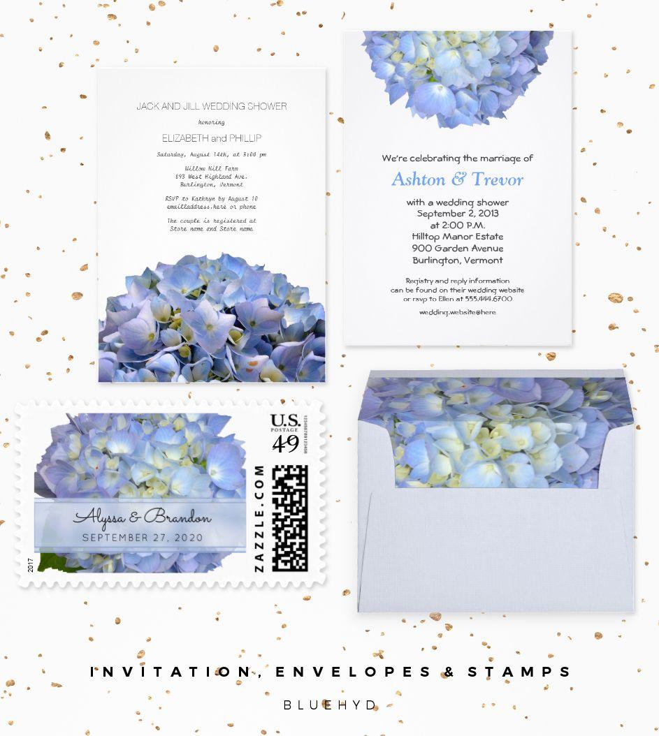 Blue Moon Hydrangea Wedding designer set features a big, light blue ...