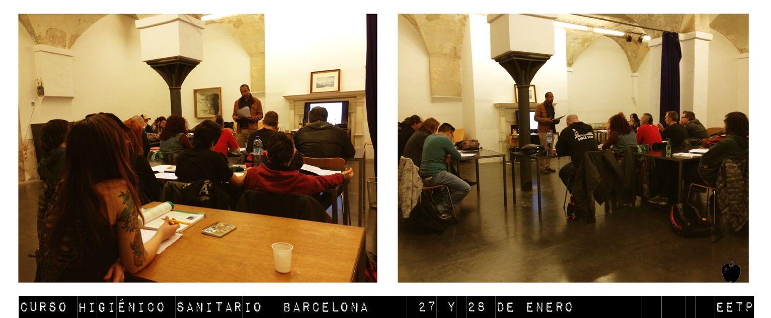 Curso Higiénico Sanitario en Barcelona 27-28 de enero.