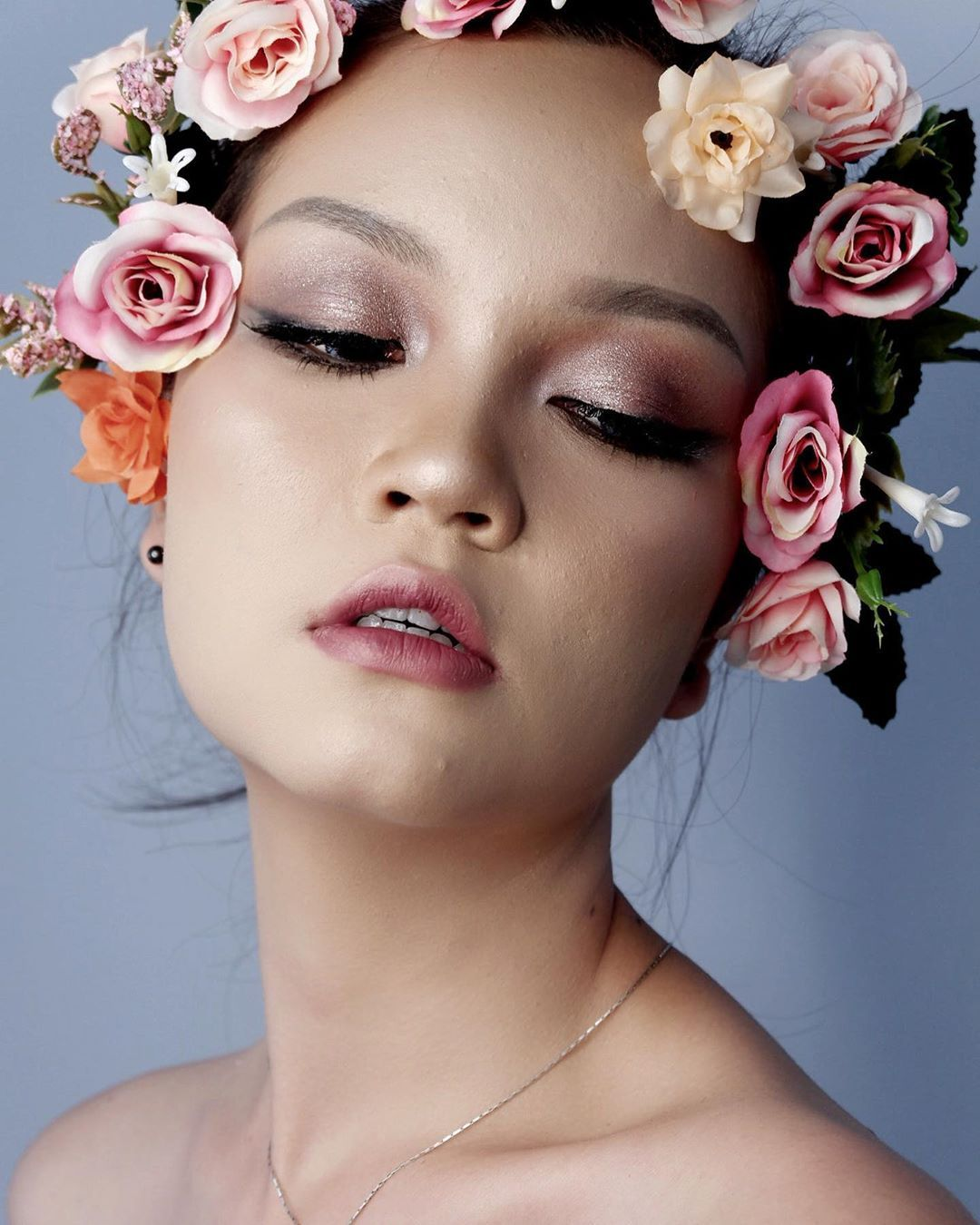 edgy editorial flowers look … #makeup #polishgirl #girl #makeupartist #eyes
