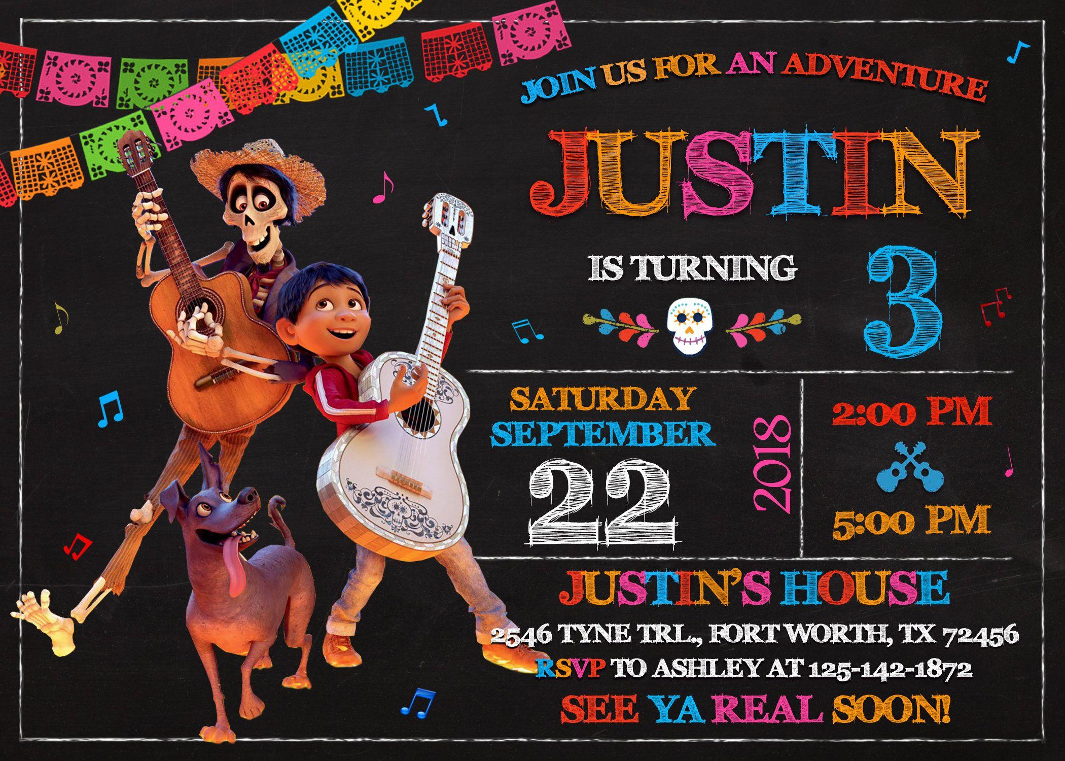 Invitaciones Para Fiesta De Coco Invitacion De Cumpleaños