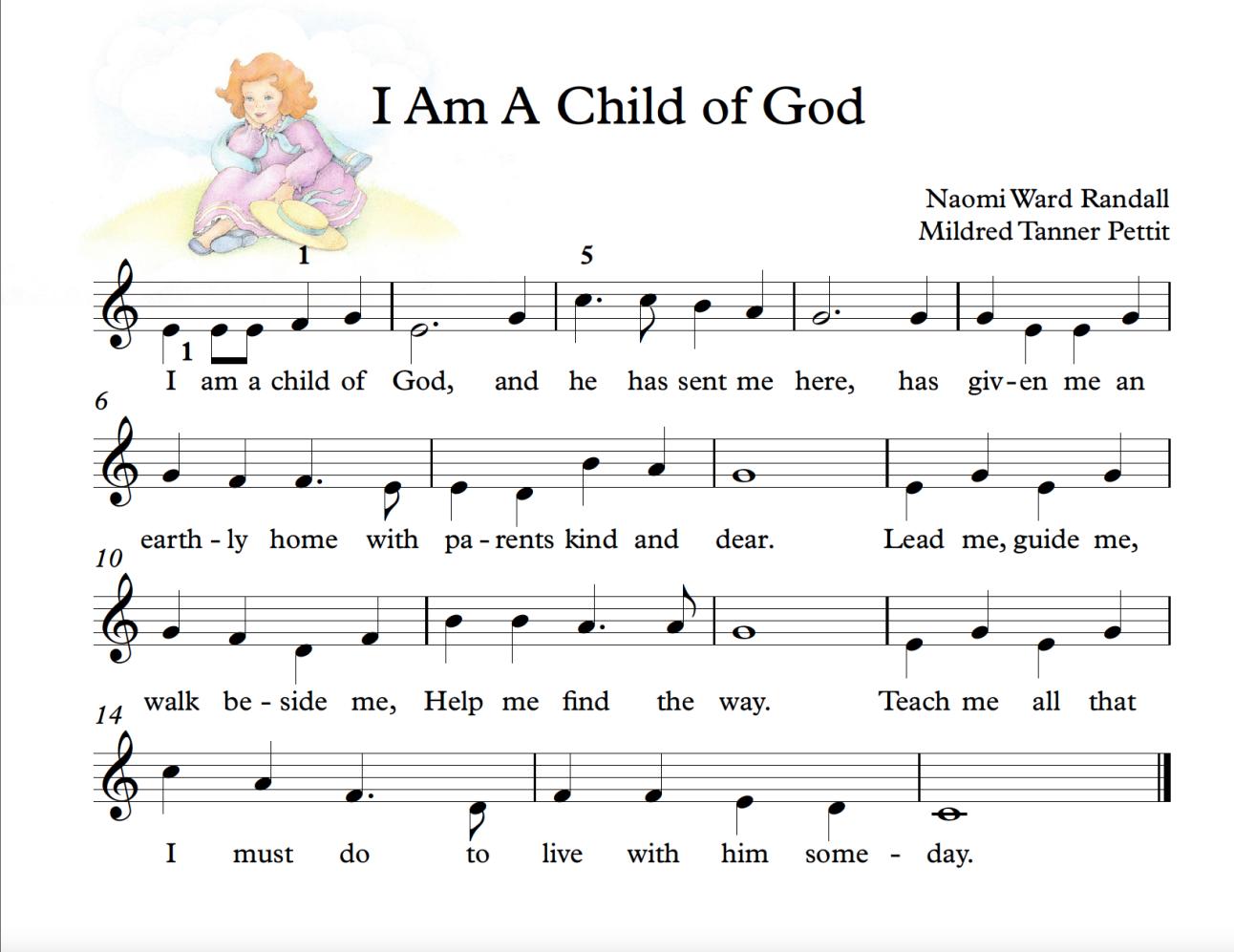 I Am A Child of God BIG NOTE Hymn sheet music, Easy