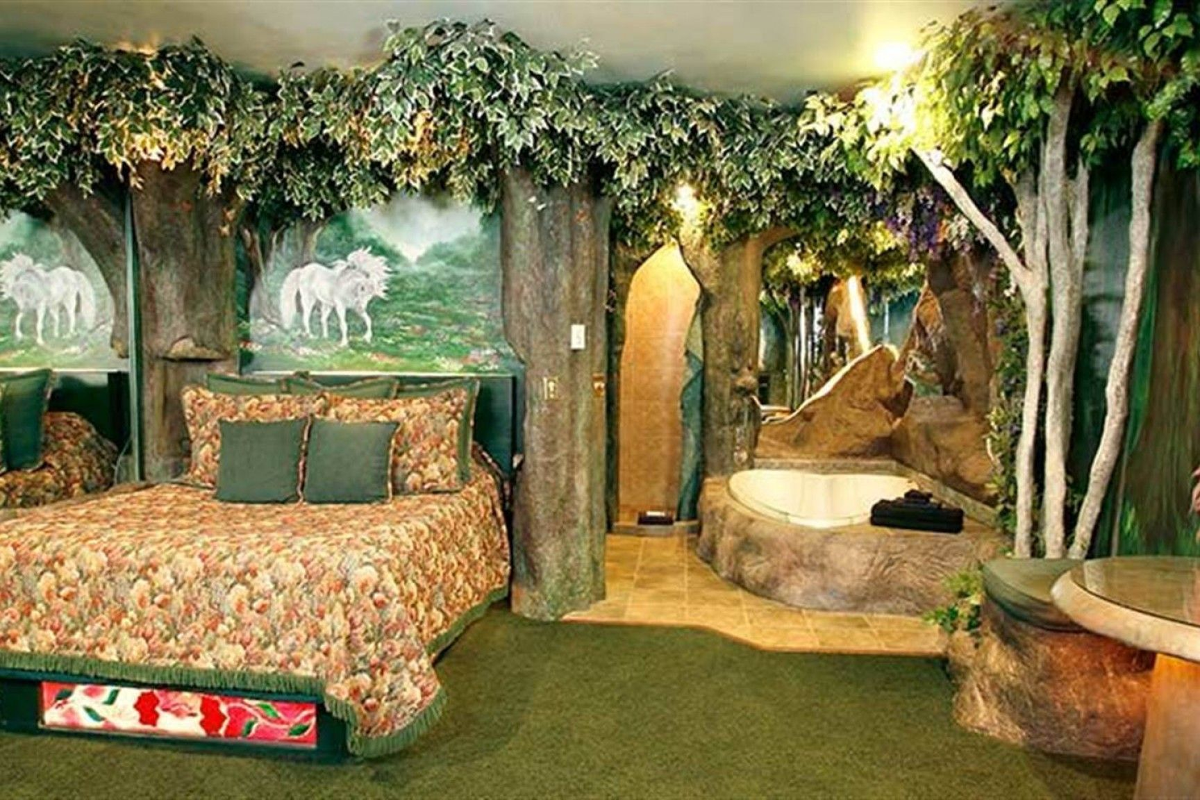 Discover The Magic In This Delightful Enchanted Forest Themed Room Mkumodels Forest Theme Bedrooms Enchanted Forest Bedroom Forest Bedroom