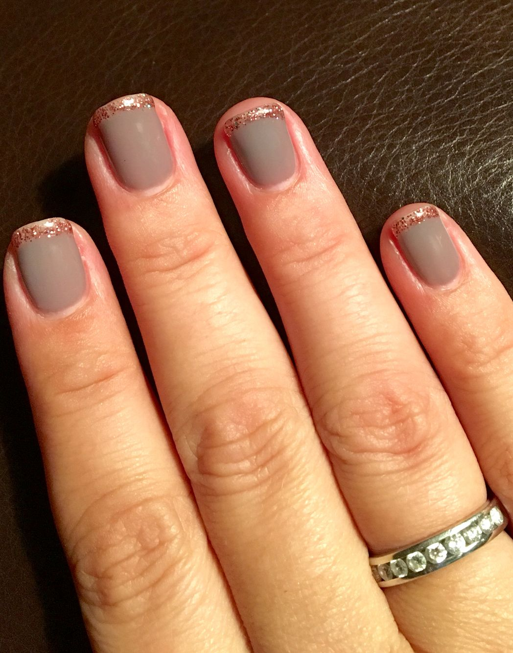 Plum Wine And Forgotten Pink French Using Daisy Dnd Gel