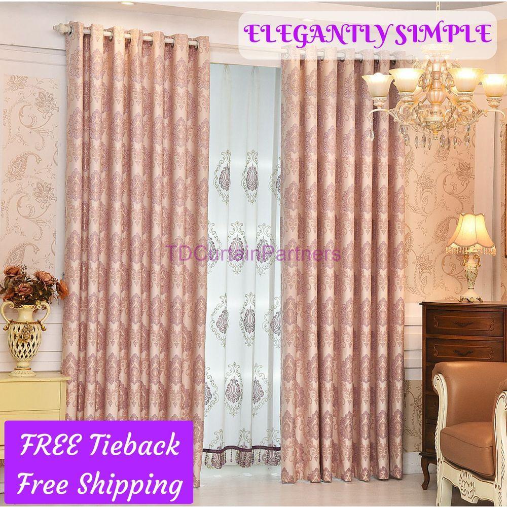 Green Bedroom Door Valance Design Fabric Drapes Sheer Curtains Eyelet Rod Pocket