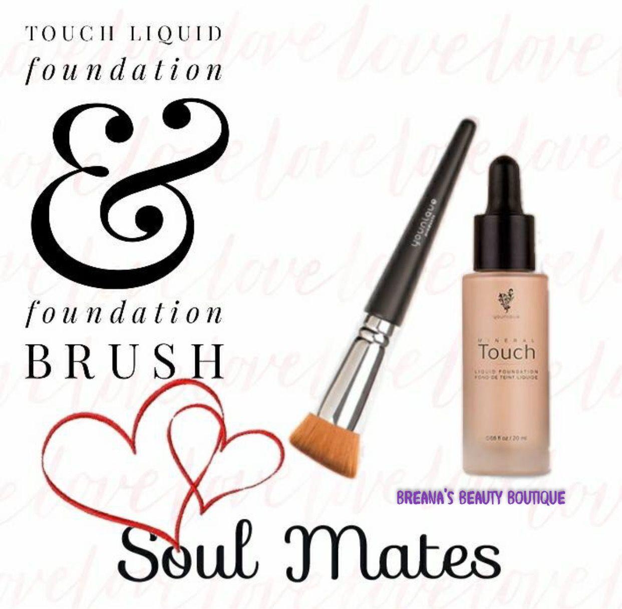Liquid foundation & brush Liquid foundation brush