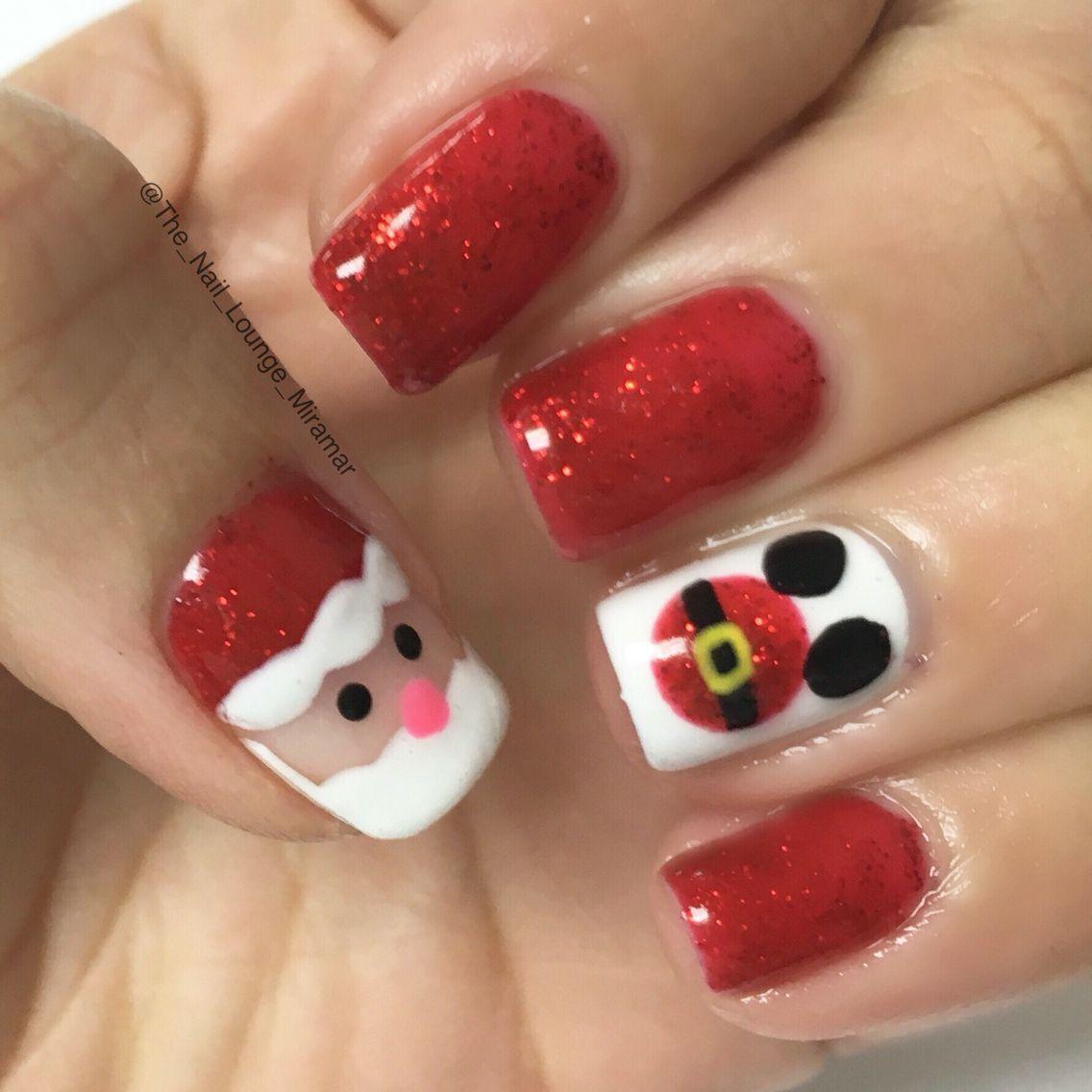 Disney Santa Mickey nail art design   Nail Art   Pinterest   Nagelschere