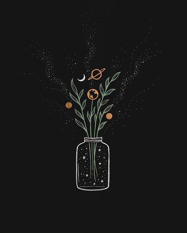 Wallpaper iphone aesthetic drawing