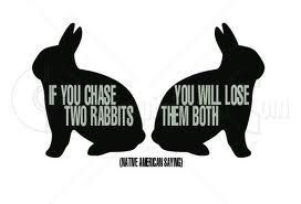 Google Image Result for http://fitandstrongdads.com/wp-content/uploads/2013/04/if-you-chase-two-rabbits-american-quote.jpg