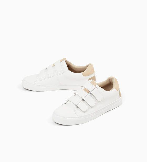 Afbeelding 3 Van Effen Lage Sneakers Met Klittenband Van Zara Plimsolls Sneakers Monochrome