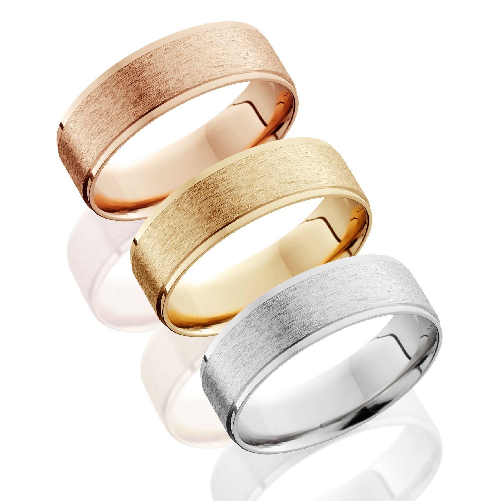 Bliss 14k Gold Mens 6mm Brushed Wedding Band Rose Size 12