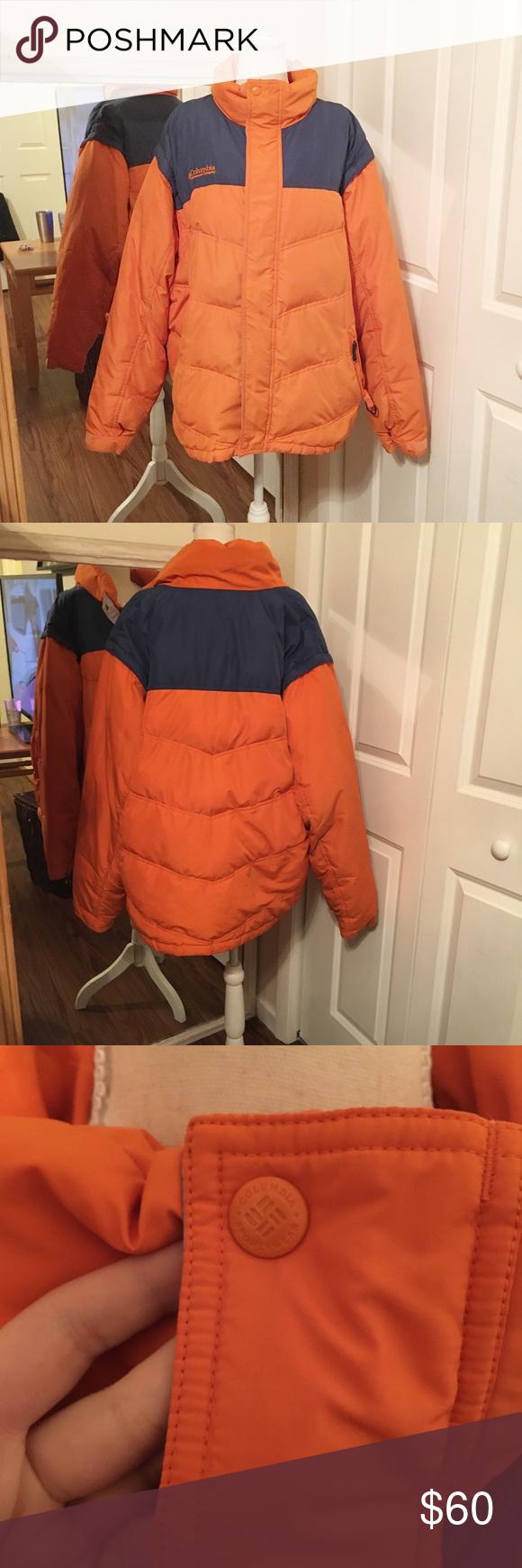 Columbia Orange And Blue Puffer Jacket Men S Men S Size Xl Orange And Blue Button And Zip Closure Puffer Columbia Blue Puffer Jacket Jackets Mens Jackets [ 1740 x 580 Pixel ]