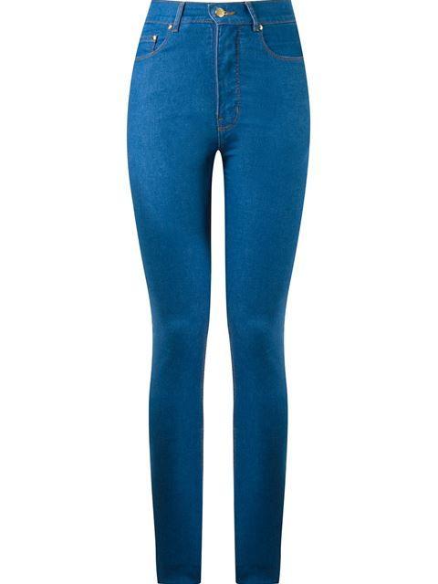 Amapô Calça jeans skinny cintura alta