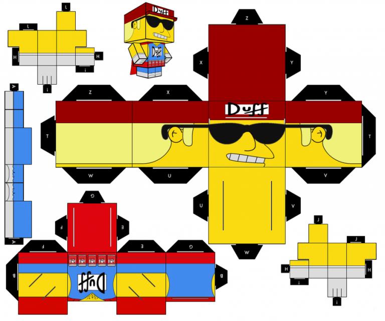 Cómo Hacer Un Recortable De Los Simpson Muñecos De Carton Juguetes De Papel Cubecraft