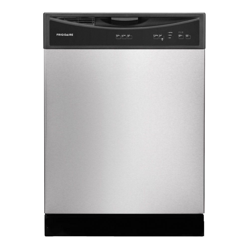 Frigidaire Front Control Dishwasher In Stainless Steel Ffbd2406ns The Home Depot Built In Dishwasher Frigidaire Dishwasher Frigidaire