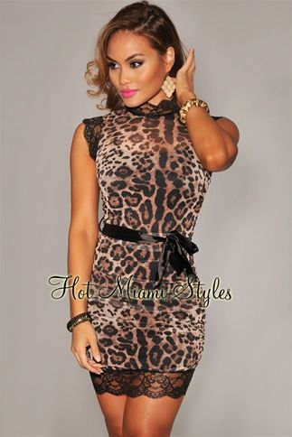 a2e15e24053 Brown Leopard Print Lace Ruched Dress- Unique, Sexy, and elegant. totally  SFS!