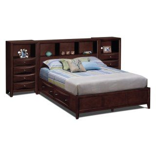 american signature furniture clarion bedroom queen wall bed with piers - Pier Wall Bedroom Furniture