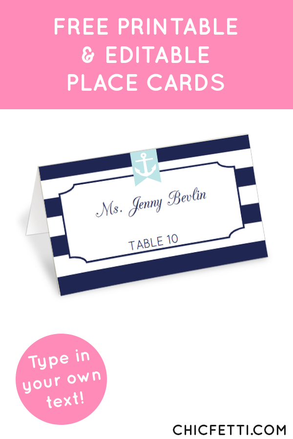 photograph regarding Free Printable Wedding Place Cards titled Nautical Striped Stage Playing cards Things in the direction of Get Wedding ceremony